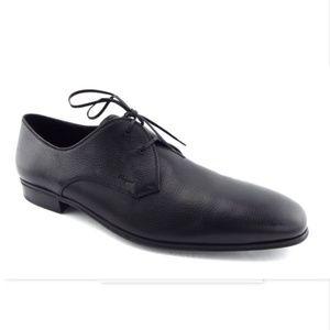 New FERRAGAMO Black Logo Oxfords Dress Shoes 11
